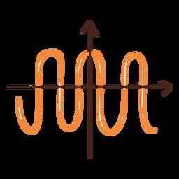 Cosine math function hand drawn element