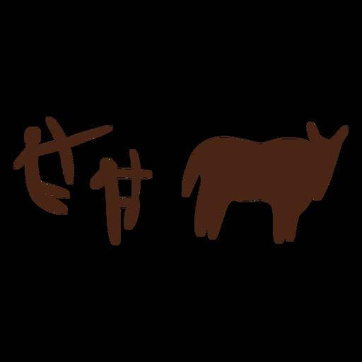 Desenhos da caverna de Cro Magnon feitos à mão