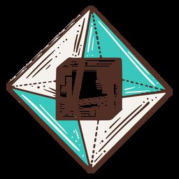 Cube inside pyramid geometry illustration