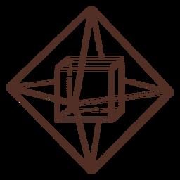 Cube inside pyramid geometry illustration cube