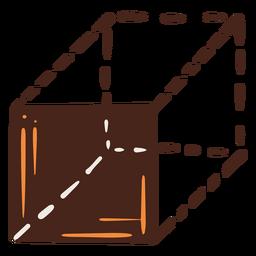 Ilustración de perspectiva de cubo