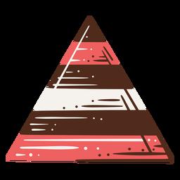 Ilustración de gráfico de triángulo acumulativo