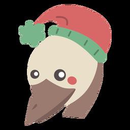 Lindo pájaro australiano emú plano