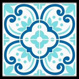 Patrón de mosaico de flores moteadas