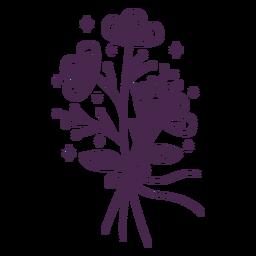 Ilustração de toque de bouquet delicado