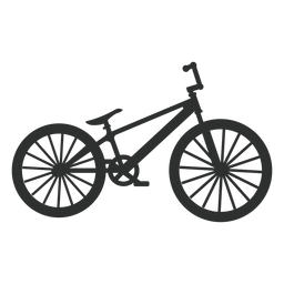 Dirt jump bike silhouette