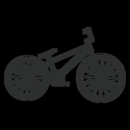 Silhueta de bicicleta de salto de sujeira