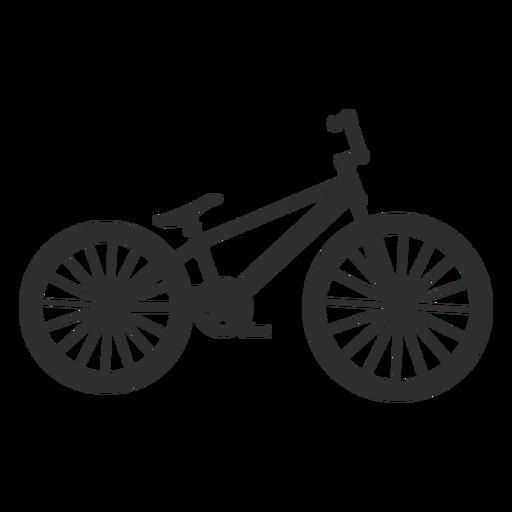Silueta de bicicleta de salto de tierra