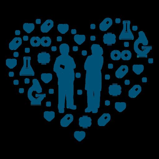 Composición del corazón de la salud de los médicos