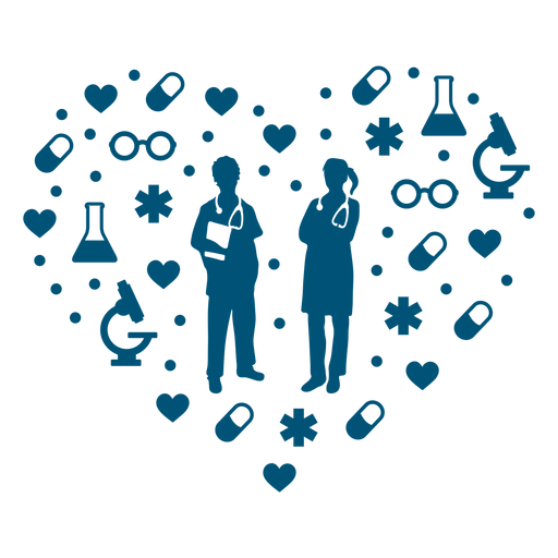 Doctors healthcare heart composition Transparent PNG