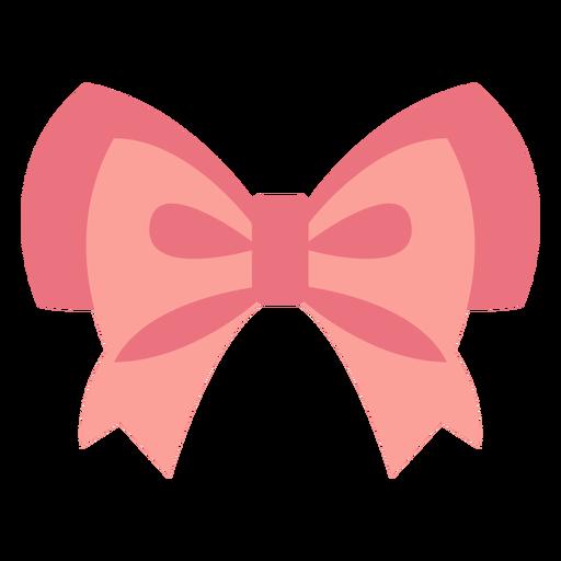 Double ruffle bow flat design