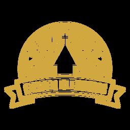 Vinilo de insignia adornado de bendiciones de Pascua