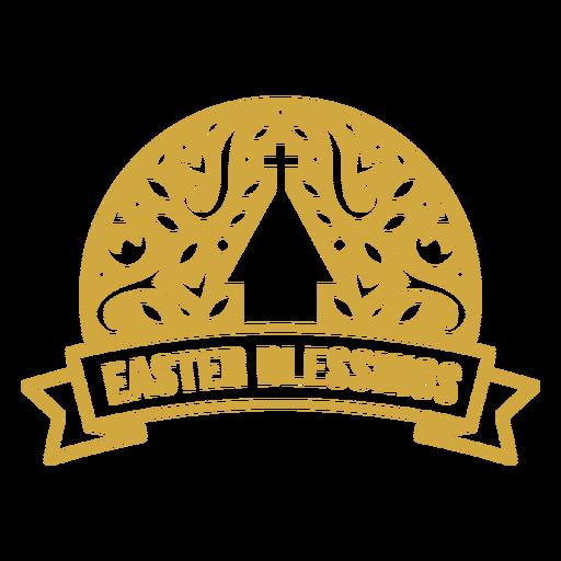 Easter blessings ornate badge vinyl