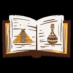 Mão de livro de história egípcia desenhada