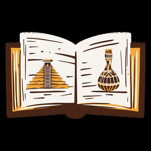Dibujado a mano libro de historia egipcia