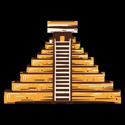 Elemento dibujado a mano pirámide egipcia