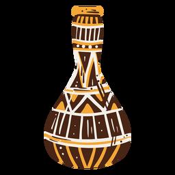 Elemento de decoração desenhado à mão em vaso egípcio