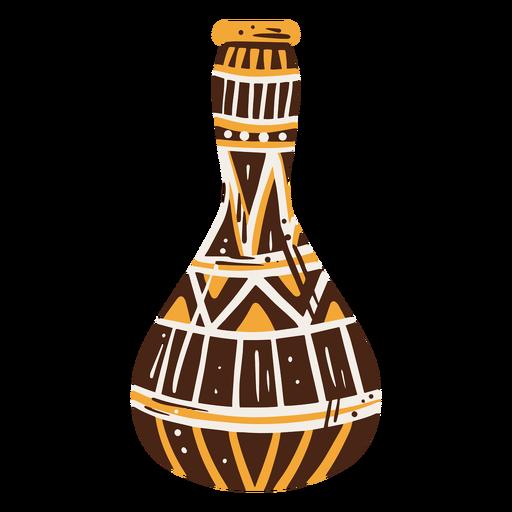 Egyptian vase hand drawn decoration element