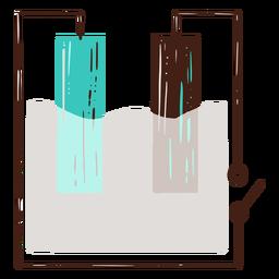 Ilustração de conectores de experimento de eletricidade
