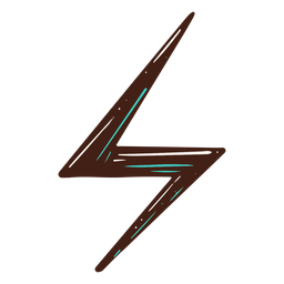 Electricity symbol lightning hand drawn