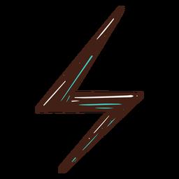 Símbolo de electricidad rayo dibujado a mano
