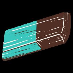 Elemento desenhado de mão de borracha