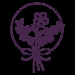 Exquisite floral bouquet stroke design