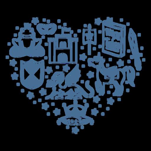 Fairy tale heart composition