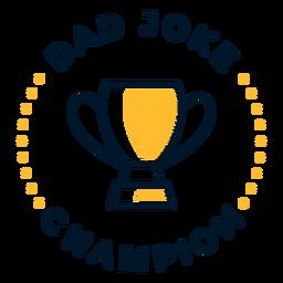 Vatertag Papa Witz Schriftzug