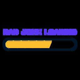 Día del padre papá broma cargando letras
