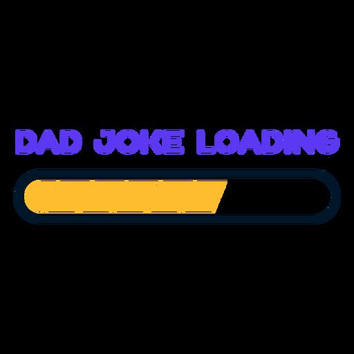 Piada do pai do dia dos pais carregando letras
