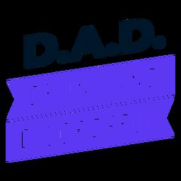 Diseño de siglas del día del padre