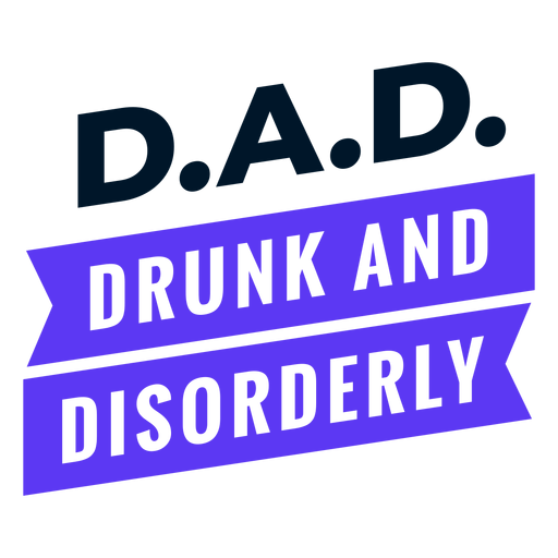 Father's day acronym design Transparent PNG