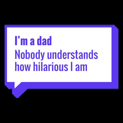 El día del padre soy un padre letras Transparent PNG