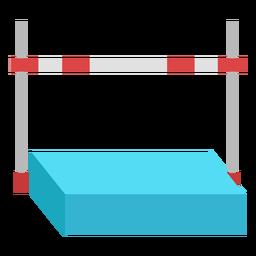 Flat high jump equipment