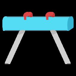 Flat pommel horse apparatus