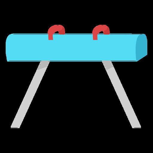 Aparato de caballo con arcos planos