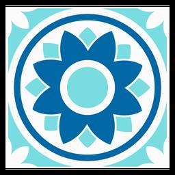 Design de círculo de flor tille