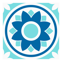 Diseño de flor círculo tille