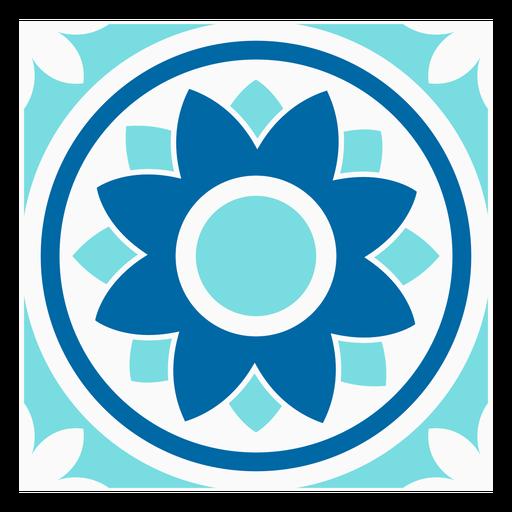 Design de círculo de flor tille Transparent PNG