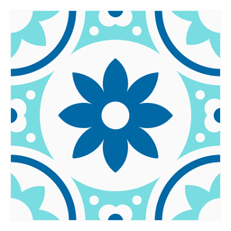 Diseño de azulejos floridos