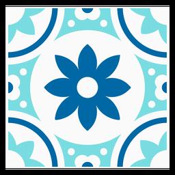 Flowery tile design