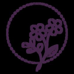Traço de bouquet pontilhado