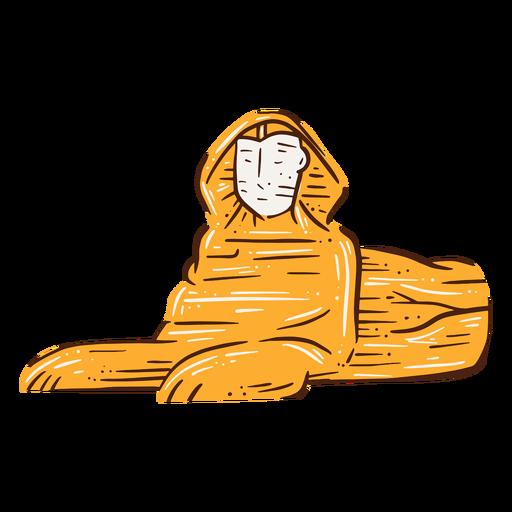 Gran esfinge de giza dibujada a mano.