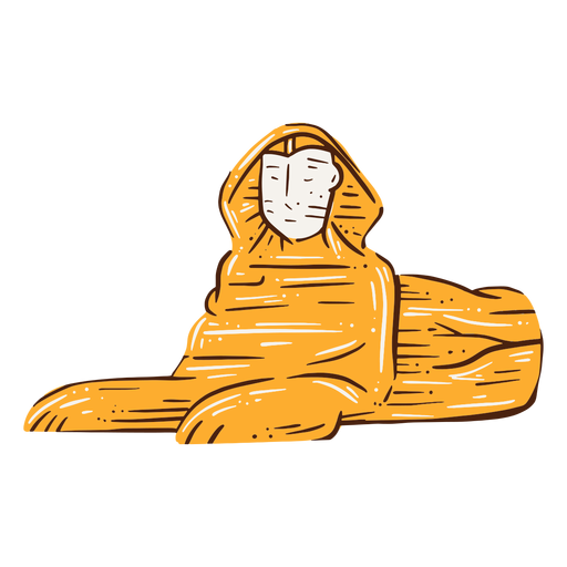 Great sphinx of giza hand drawn