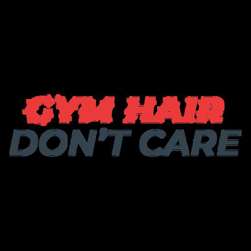 Frase de entrenamiento divertido de pelo de gimnasio