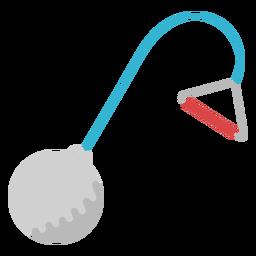 Elemento plano de equipo de lanzamiento de martillo.