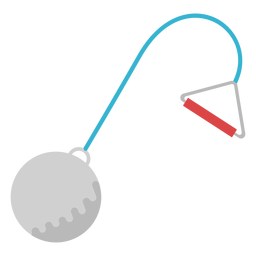 Hammer throw equipment flat element