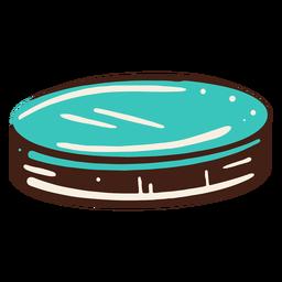 Elemento de moneda azul dibujado a mano