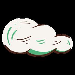 Elemento de nuvem desenhado à mão